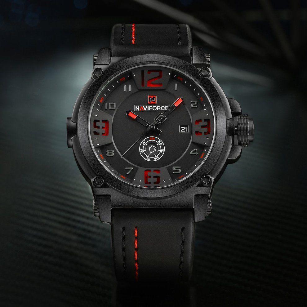 f16ab23c170 Relógio NaviForce Modelo 9099 Pulseira de Couro - Relógio Masculino ...