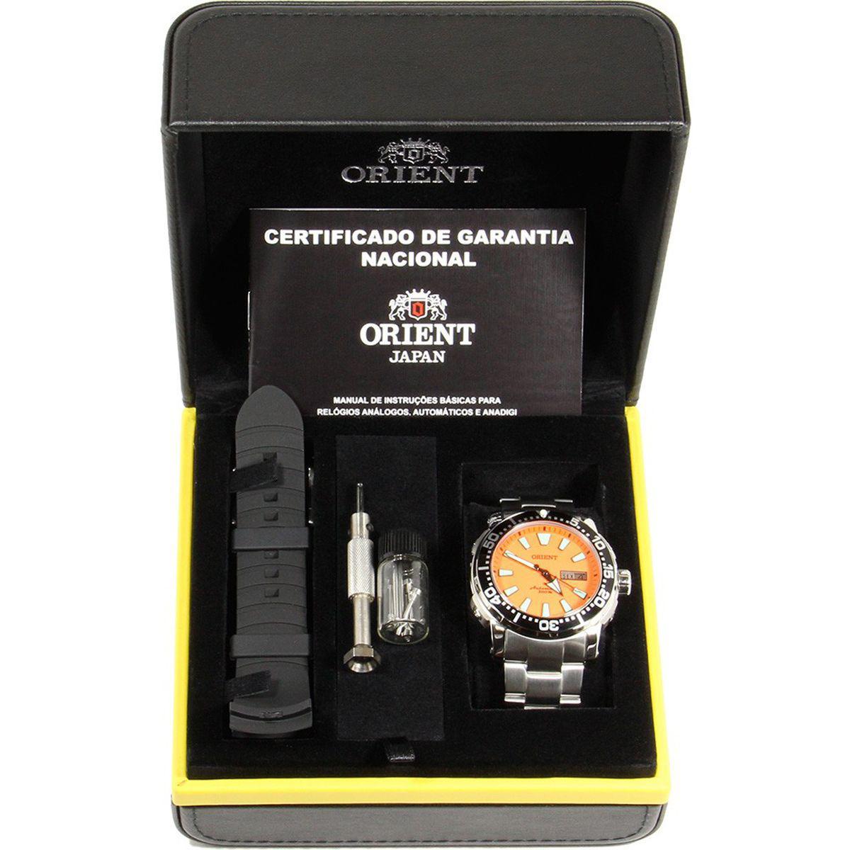e17adde4409 Relógio Orient Automático Analógico Sport Troca Pulseira Diver39s Poseidon  Masculino 469SS040 O1S Produto não disponível