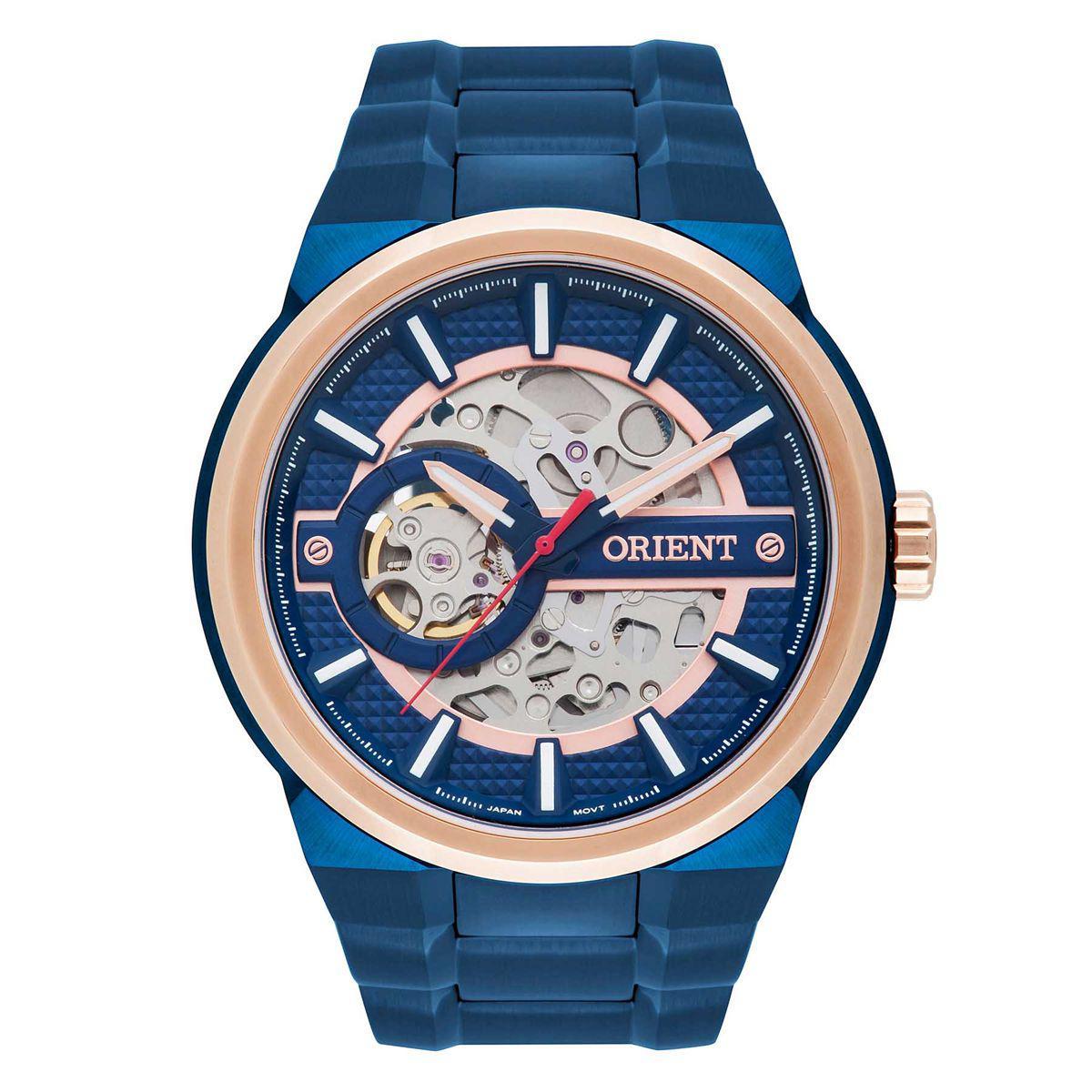 757ff2dc060 Relógio Orient Automático Masculino NH7BR001 D1DX Esqueleto R  1.234