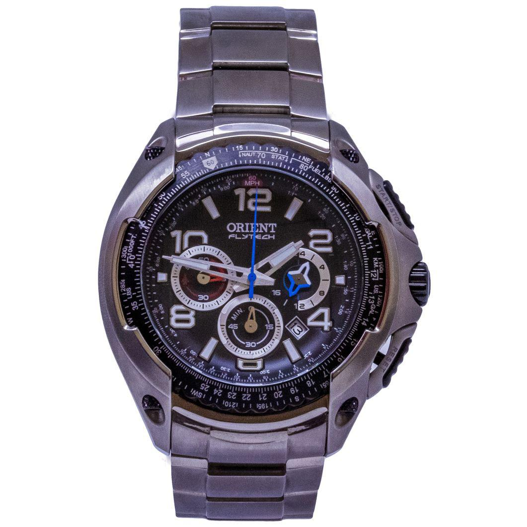 8218ee868db Relógio Orient New Flytech Cronógrafo Titanium Masculino - MBTTC015 P2GX