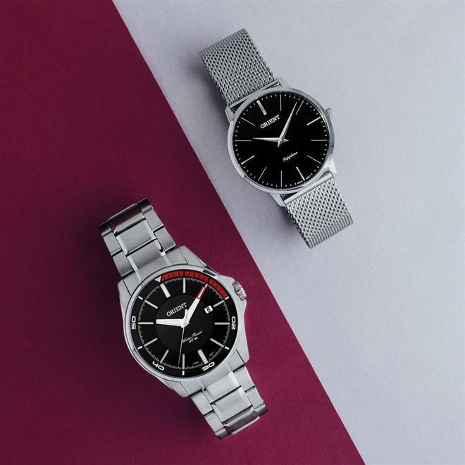 d1eef0c6ff474 Relógio Orient Slim Sapphire MBSSS007 P1SX Fundo Preto Produto não  disponível
