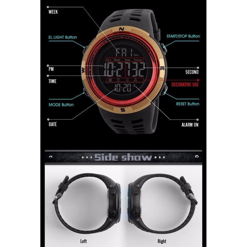 9dcf6292f3 Relógio Skmei Modelo 1251 Esportivo Lançamento R$ 68,90 à vista. Adicionar  à sacola