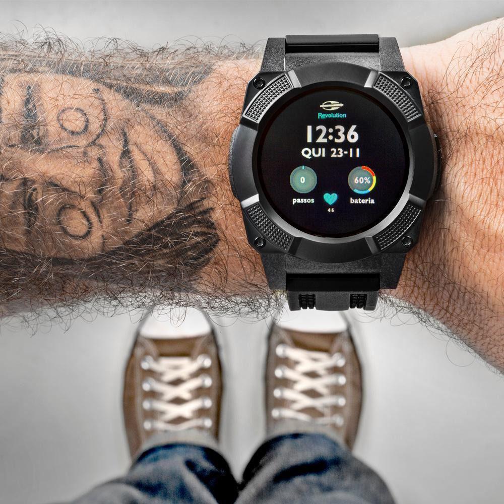 f3a7fe8d6cf0a Relógio Smartwatch Revolution Mormaii Masculino MOSRAB 8P - Relógio ...