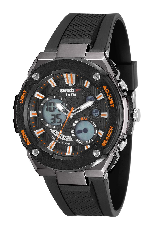 a31f4ed830f Relógio Speedo Original Masculino Ref  81176G0EVNP2 Esporte Preto R  244