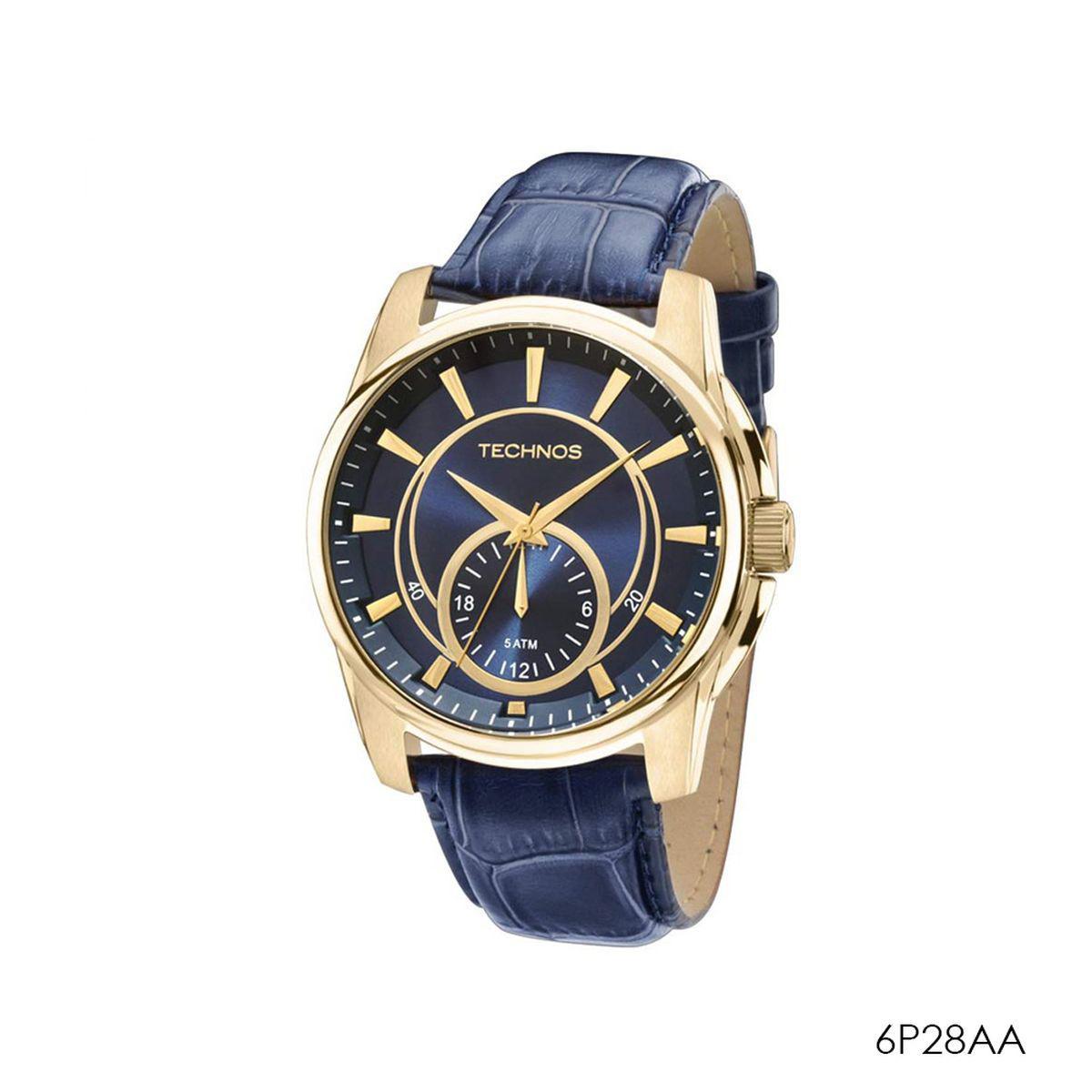 b2a1482ee1c Relogio technos azul 6p28aa - Relógio Masculino - Magazine Luiza