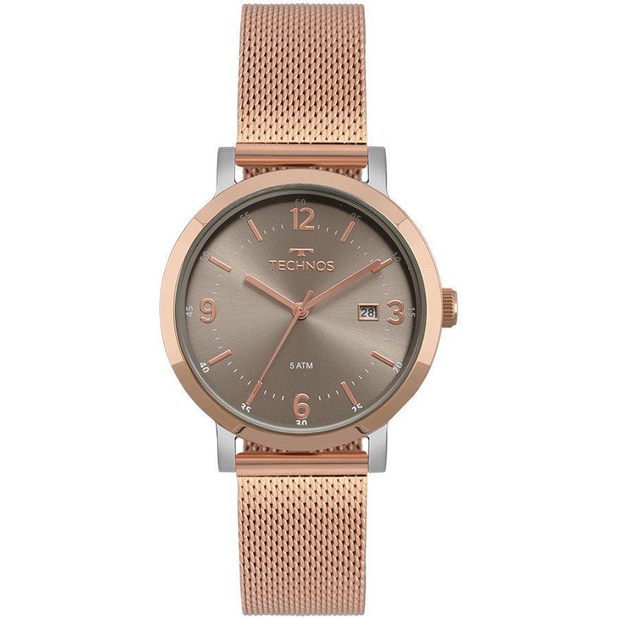 af23422b01b0f Relógio Technos Elegance Dress Rose Feminino 2115MPF 4C - Relógio ...