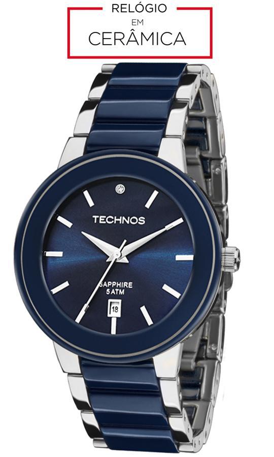 6f2e8ad33a9a6 Relógio Technos Feminino Elegance Ceramic Sapphire Analógico 2115KRT 1A R   709