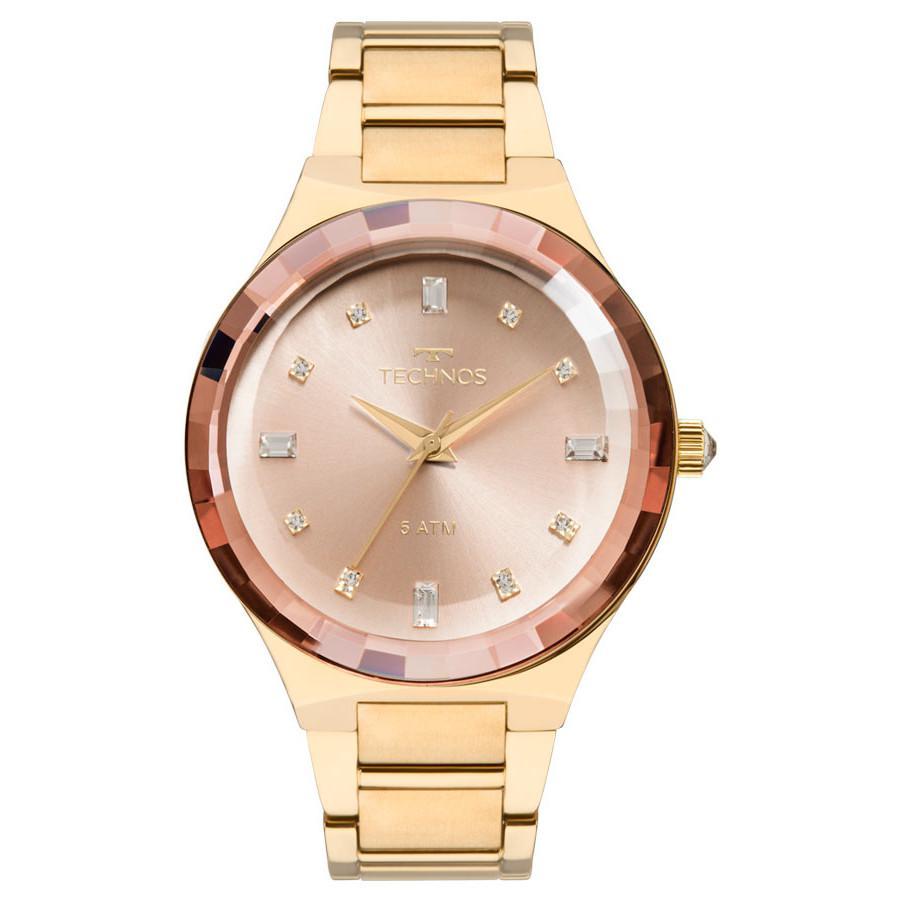 d6702d64c403d Relógio Technos Feminino Elegance Crystal Swarovski Analógico 2036MJK 4T R   595