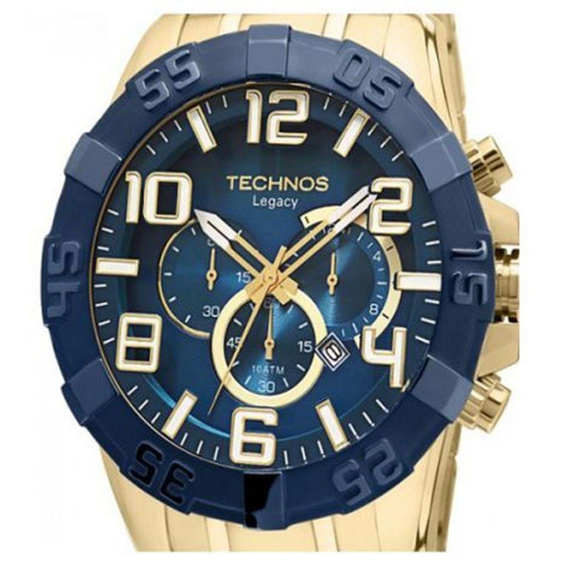 c799334de9804 Relógio Technos Masculino Classic Legacy Cronografo Os20iq 4a - Dourado  Produto não disponível