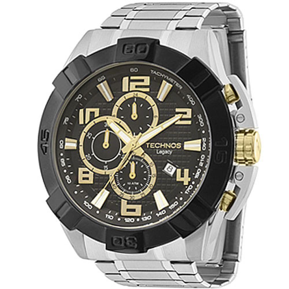 2588dc070b112 Relógio Technos Masculino Performance Legacy JS15BF 1P - Prata Preto  Produto não disponível
