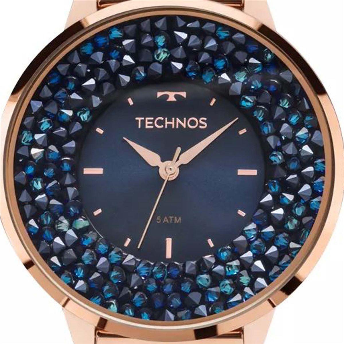 1c27d16b7efc5 Relógio Technos Swarovski Elegance Analógico Feminino 2035MLE 4A R  589,00  à vista. Adicionar à sacola