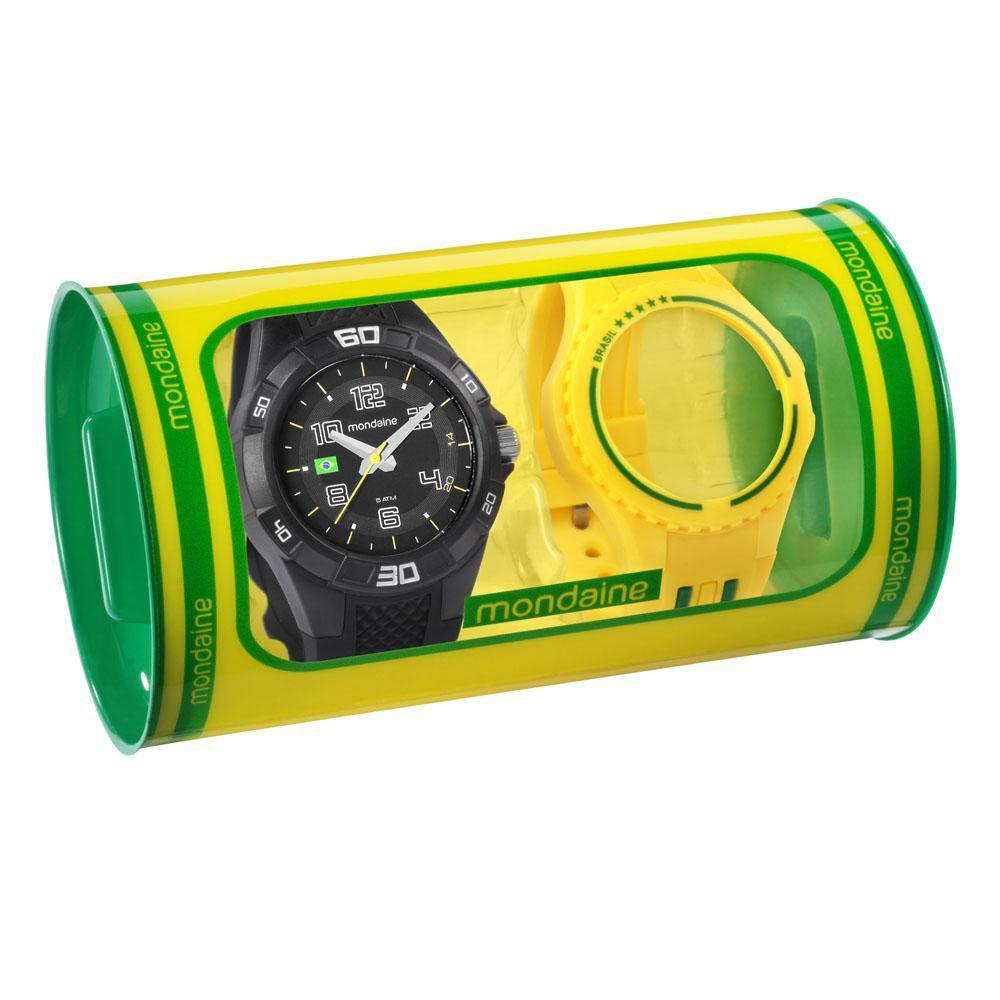 498acd8ea10 Relógio Troca Pulseiras Masculino Mondaine Urbano 69212G0MVNV1 -  Preto Amarelo Produto não disponível