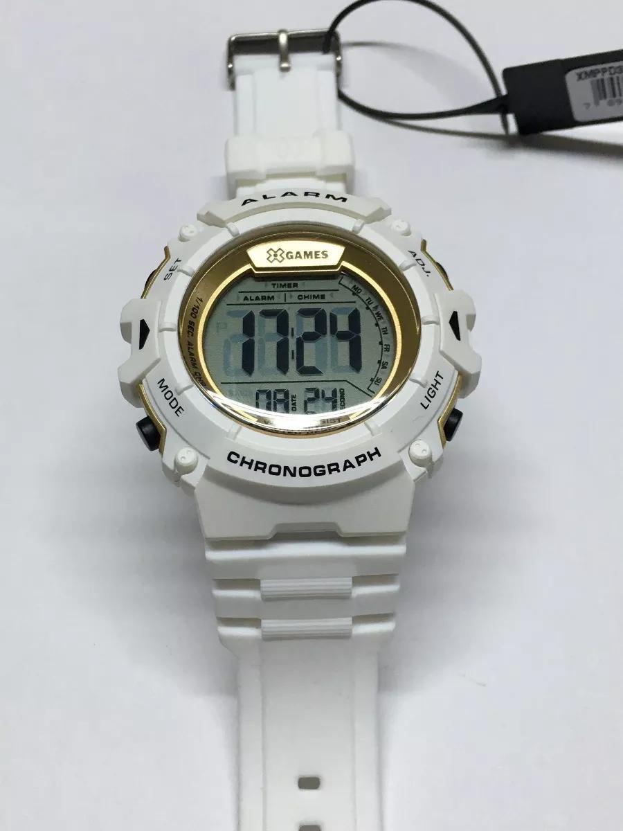 24cfbc59425 Relógio X-games Masculino Digital Xmppd332 Bxbx Branco - Relógios ...
