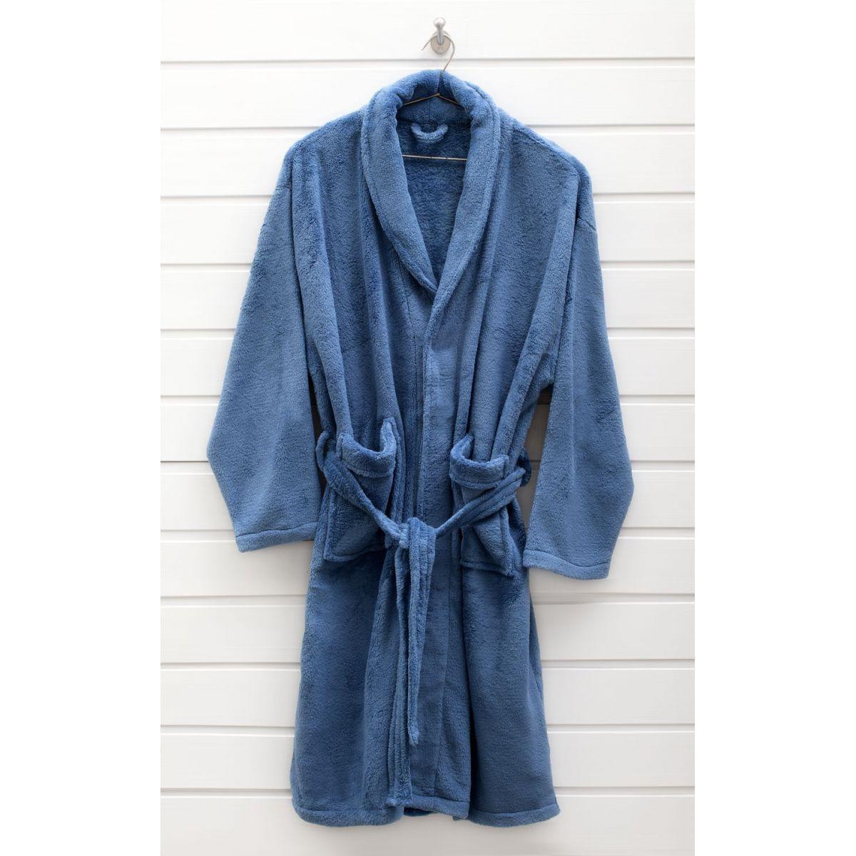 5b70098adf9923 Roupão Microfibra Adulto Home Design Azul Indigo M 62x102cm Corttex