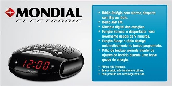 53c180e6c1c RR-03 - Rádio Relógio Sleep Star III Bivolt - Mondial - Rádio ...