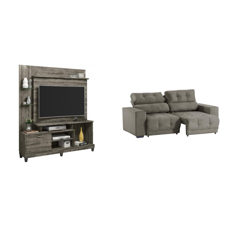 sala de estar completa madeiramadeira com estante home e sof rh magazineluiza com br
