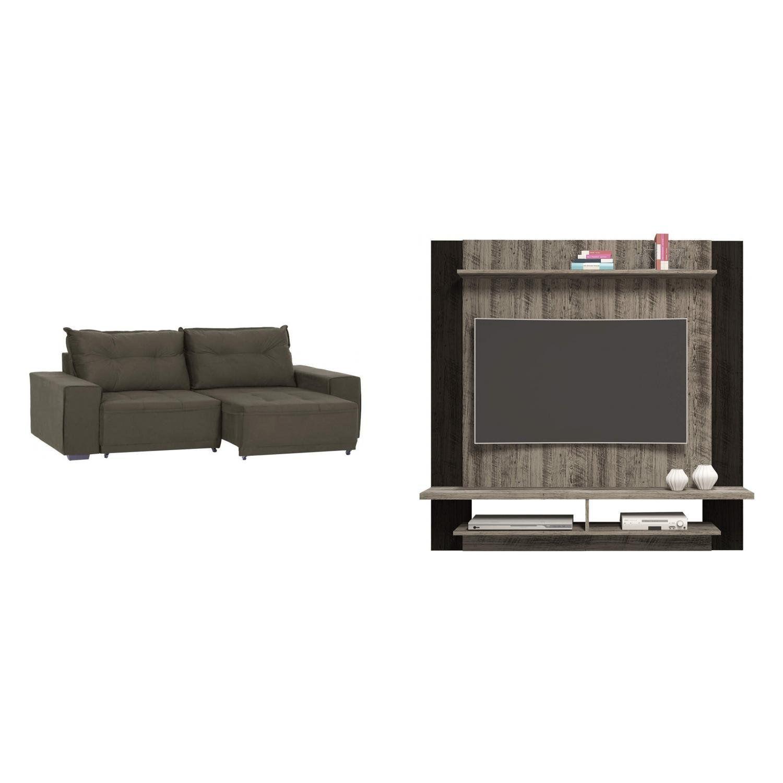 sala de estar completa madeiramadeira com painel para tv 40 rh magazineluiza com br