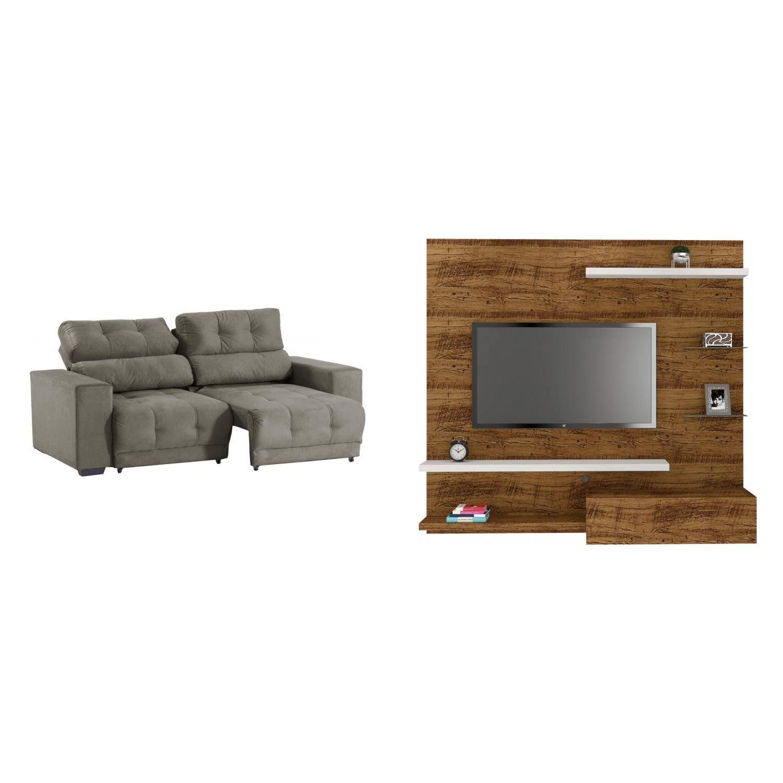 sala de estar completa madeiramadeira com painel para tv 48 rh magazineluiza com br
