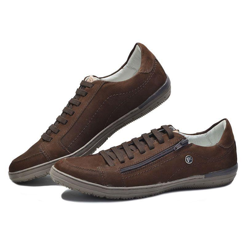 454b7de31 Sapatênis de Zíper Masculino Marrom - Chocolate 860-04 - Bmbrasil R  175
