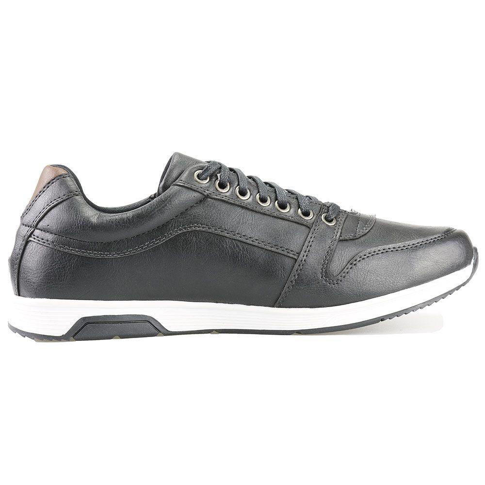 f2466e8a4f Sapatenis Florense Casual Easywear Preto Masculino - Dhl calçados R  99