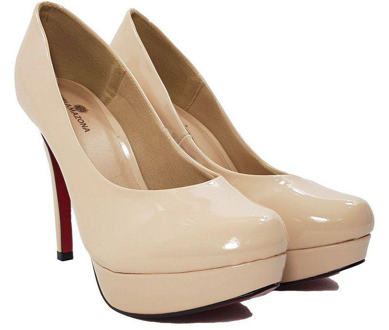 fa36e13a5 Sapato Feminino Salto Alto Dom Amazona Nude Verniz Cód 27 - Dom amazona R$  169,99 à vista. Adicionar à sacola