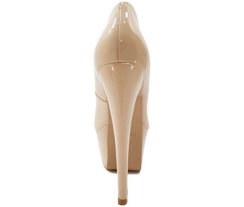 189082775 Sapato Feminino Salto Alto Numeração Especial Verniz Nude CD38 - Dom amazona  R$ 169,99 à vista. Adicionar à sacola
