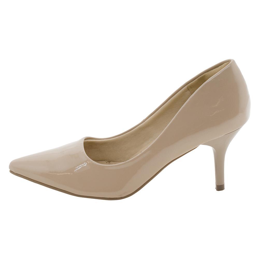 1c80e9c707 Sapato Feminino Scarpin Salto Médio Facinelli - 62102 BEGE BEGE R  59