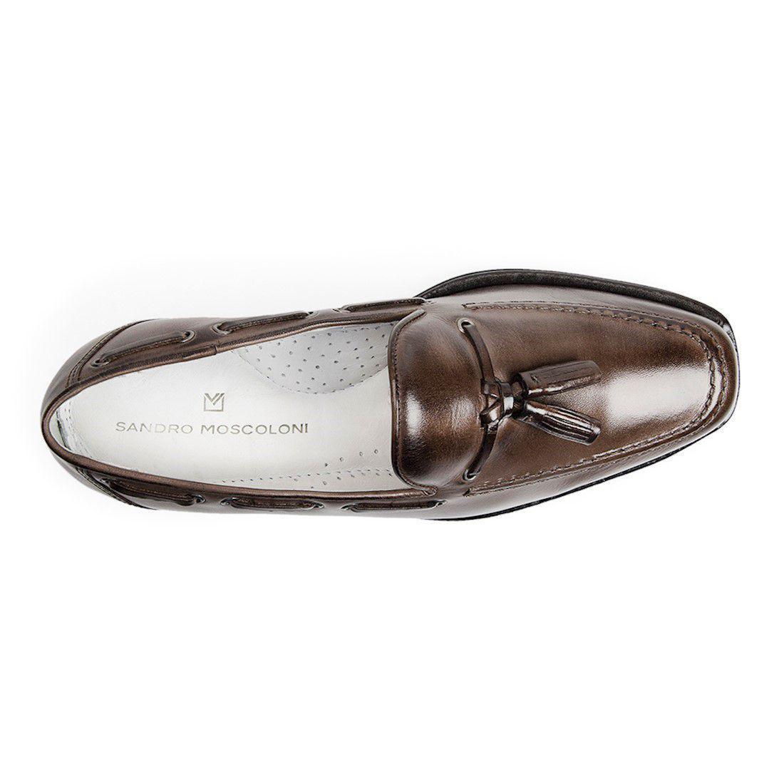 d1c063336 Sapato masculino mocassim sandro moscoloni abraham marrom brown R$ 219,90 à  vista. Adicionar à sacola