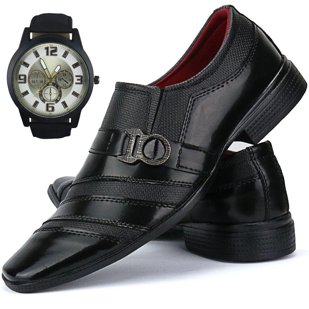 e7b7c0162 Sapato Social Masculino Luxo Bico Fino + Relógio - Ws shoes R$ 79,90 à  vista. Adicionar à sacola