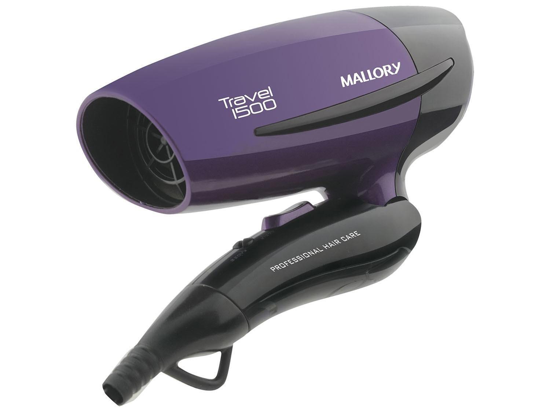 eec1d5c22 Secador de Cabelo Mallory Dobrável - Travel 1500 1250W 2 Velocidades ...