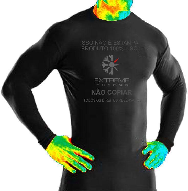 5c904cfea8 Segunda pele térmica Extreme Thermo mista para frio calor moderados camiseta  manga longa R  49