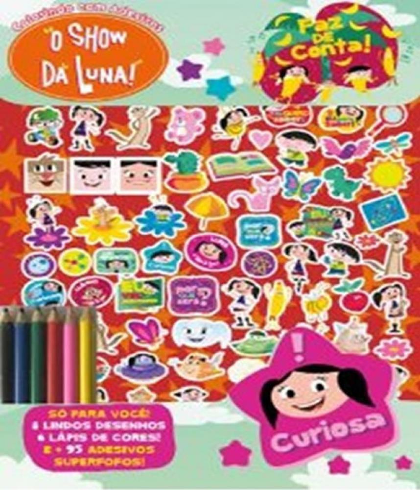 Show Da Luna Colorindo Com Adesivos On Line Editora Livros