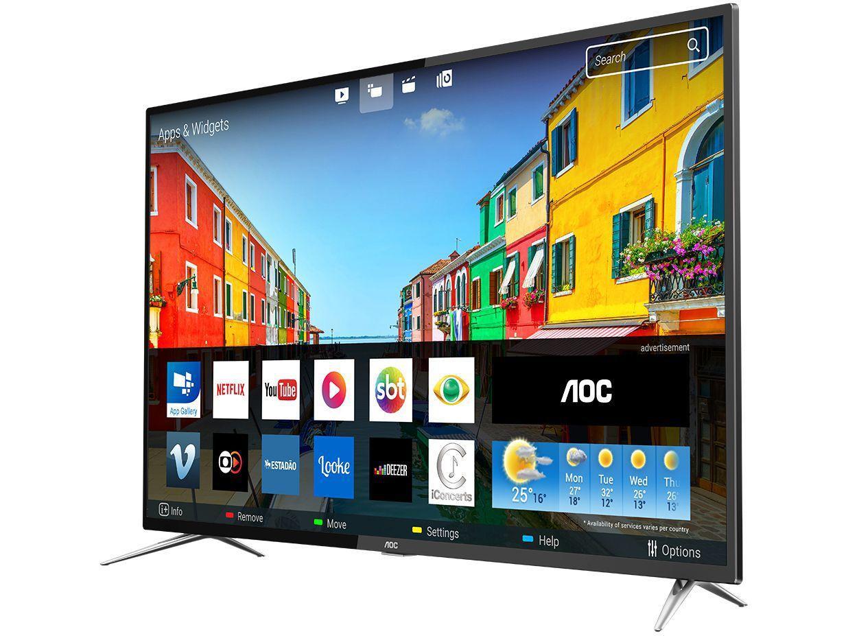 """bd24d6df8 Smart TV 4K LED 50"""" AOC LE50U7970S - Conversor Digital 4 HDMI 2 USB ..."""