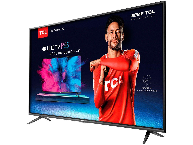 """5e10b23e4f6 Smart TV 4K LED 55"""" TCL P65US Wi-Fi HDR - Conversor Digital 3 HDMI 2 ..."""