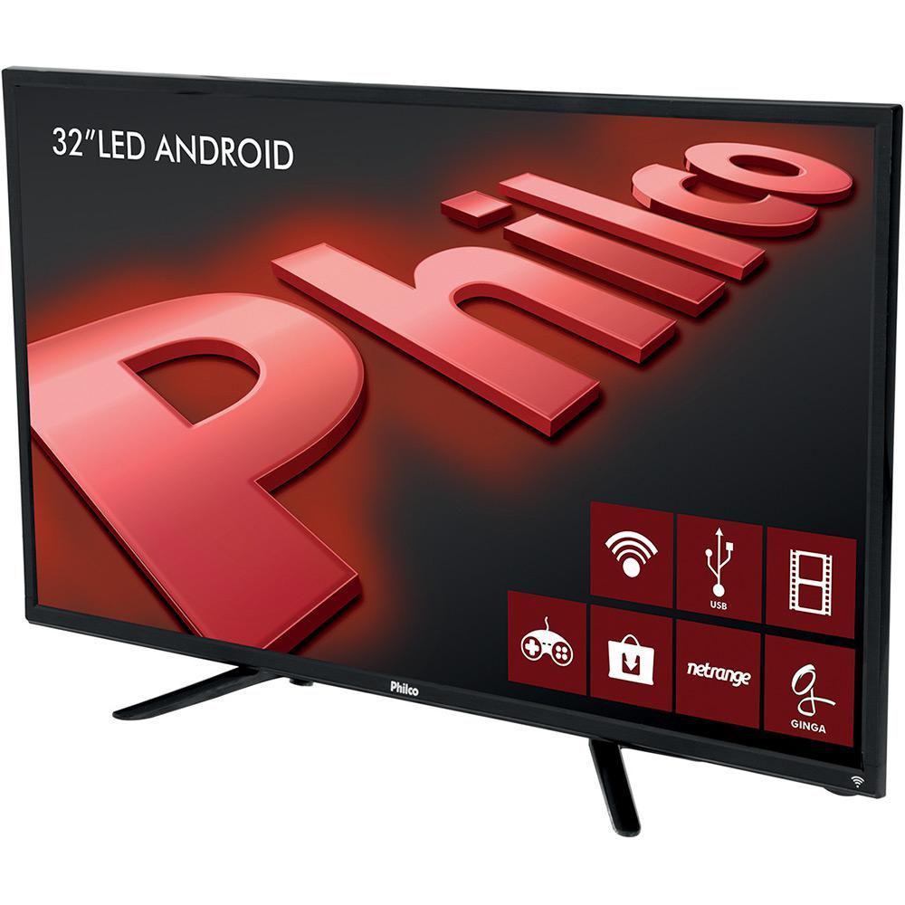 0bec839fa39 Smart Tv LED 32 Philco HD Conversor Digital 2 HDMI 2 USB Wi-Fi Android  PH32B51DSGWA - Preta Produto não disponível