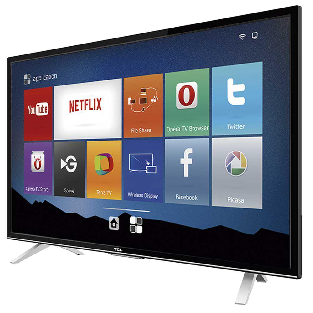 smart tv led 32 semp tcl hd 3 hdmi usb wi fi conversor digital l32s4700s semp toshiba smart. Black Bedroom Furniture Sets. Home Design Ideas