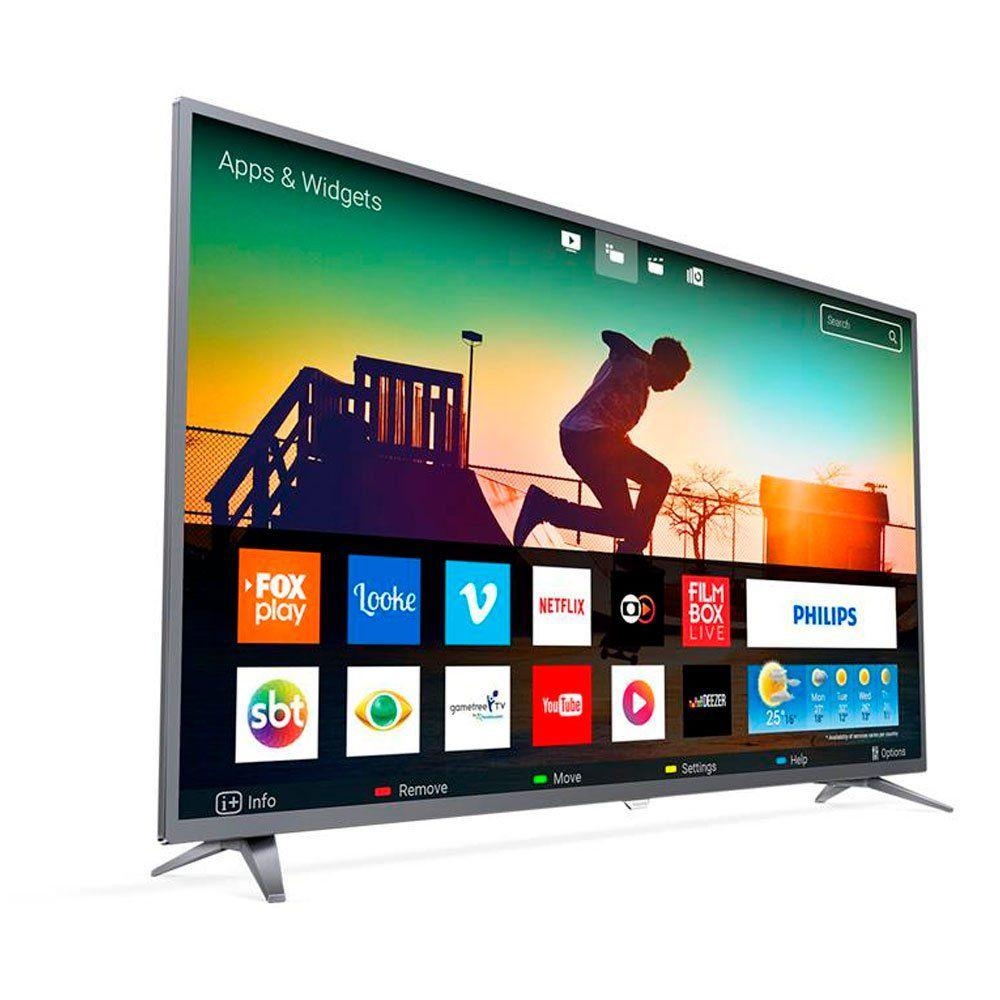 9024a93af55 Smart TV LED 50 Polegadas Philips 50PUG6513 4K USB 3 HDMI Netflix - Aoc R   2.380