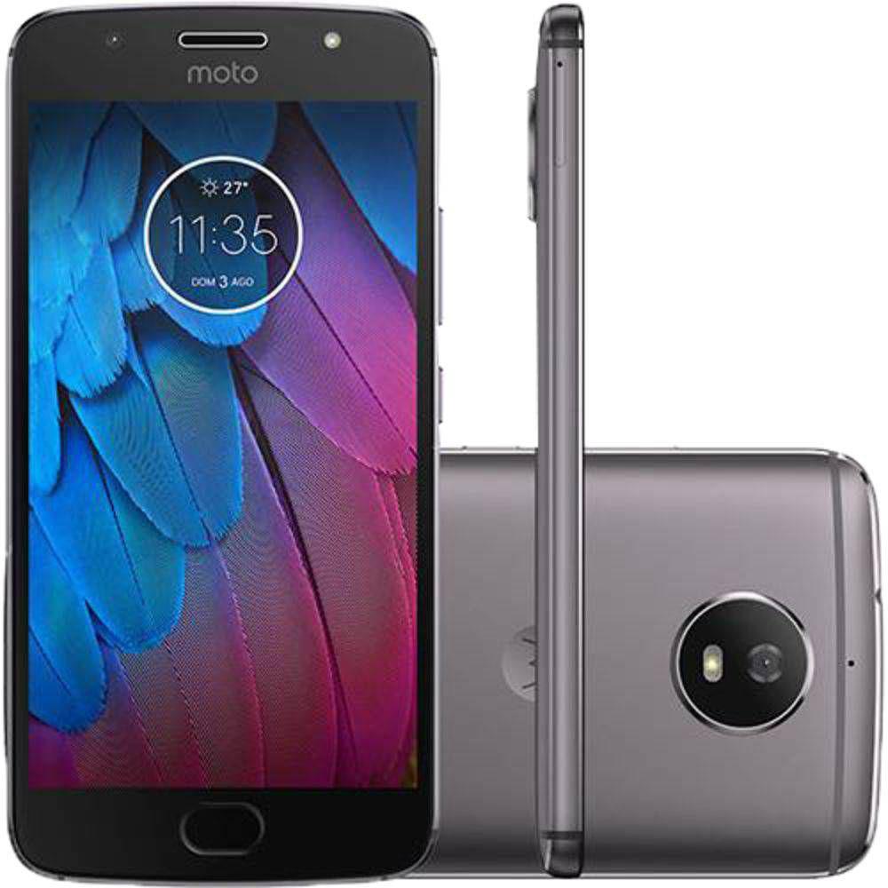 """1b09569118 Smartphone Motorola Moto G 5S Android 7.1.1 Nougat Tela 5.2"""" 32GB 4G Câmera  16MP Platinum - Grafite Produto não disponível"""