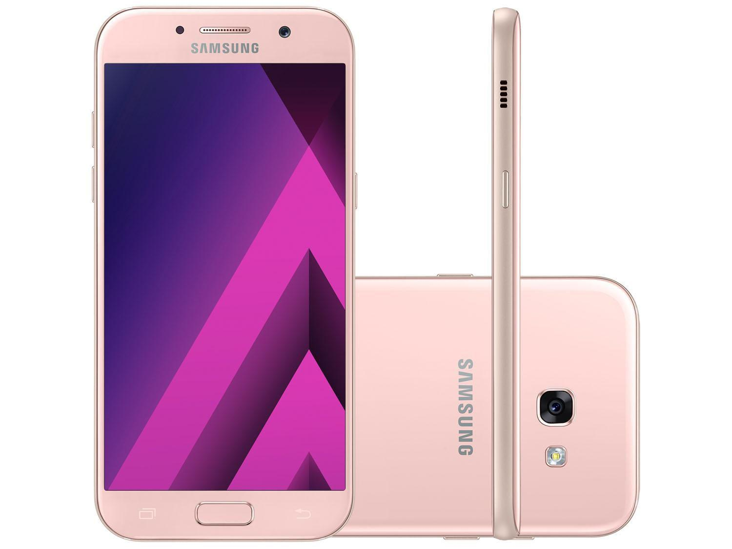 smartphone samsung a5 2017 32gb rosa dual chip 4g c m 16mp selfie 16mp tela 5 2 octa core. Black Bedroom Furniture Sets. Home Design Ideas