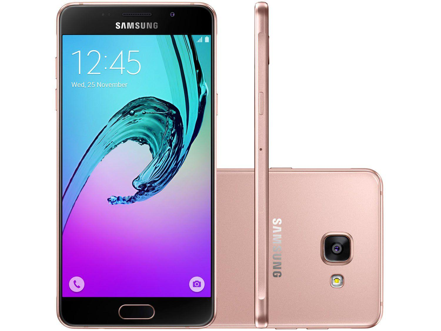 smartphone samsung galaxy a5 2016 duos 16gb ros dual chip 4g c m 13mp selfie 5mp tela 5 2. Black Bedroom Furniture Sets. Home Design Ideas