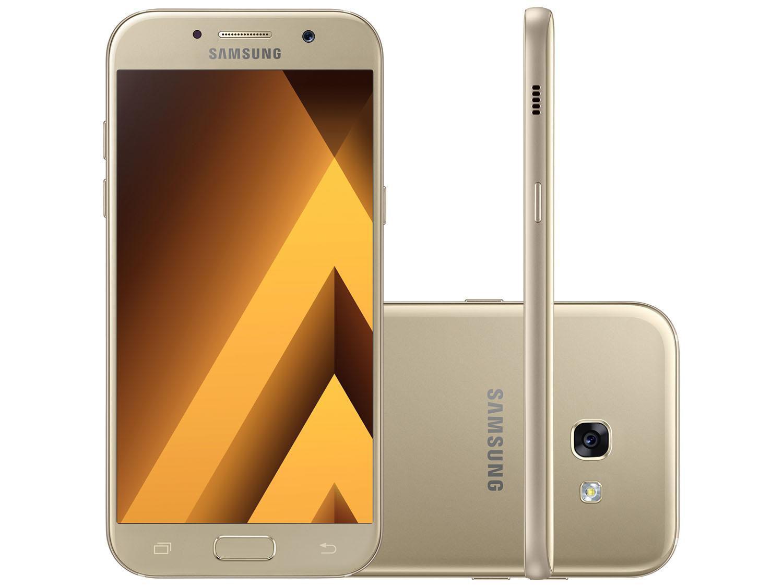 124ede7ea0 Smartphone Samsung Galaxy A7 2017 32GB Dourado - Dual Chip 4G Câm ...