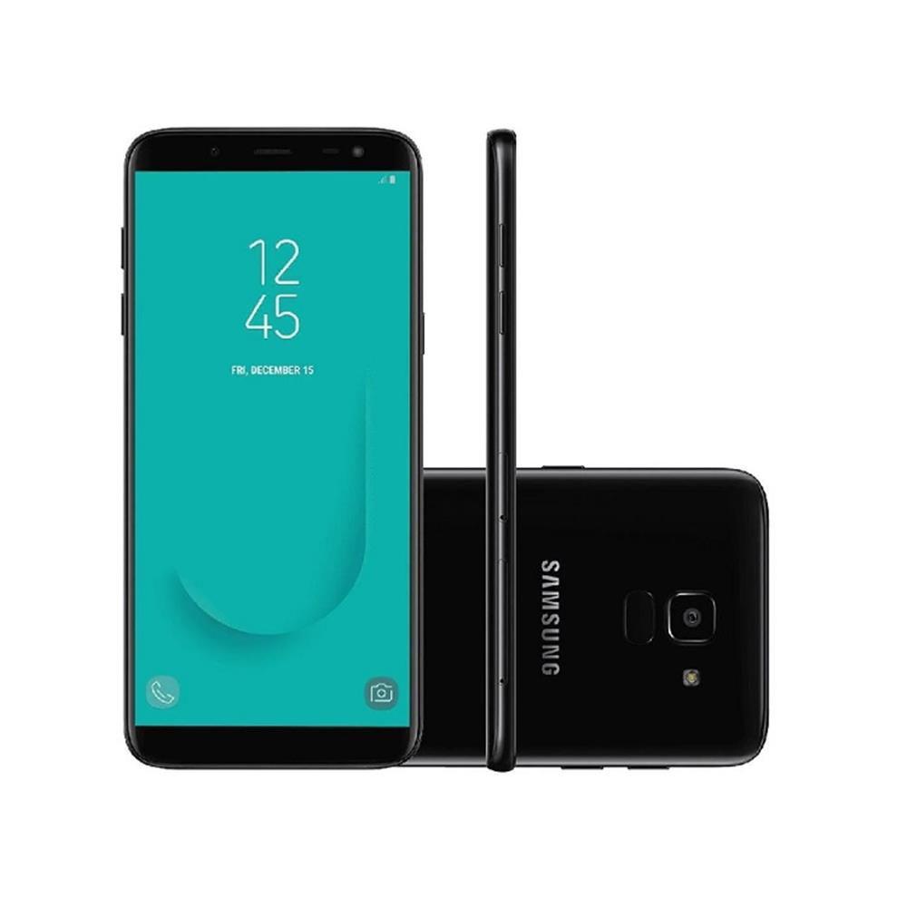 """aa745798229a1 Smartphone Samsung Galaxy J6 J600G 32GB Preto Android 8.0 Oreo, Dual Chip,  Câmera 13MP, Tela 5.6"""" Produto não disponível"""