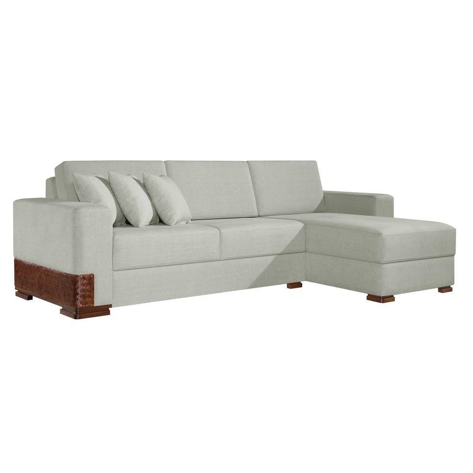 Sof 3 lugares com chaise bretanha cinza mobly sof 3 for Sofa 03 lugares com chaise