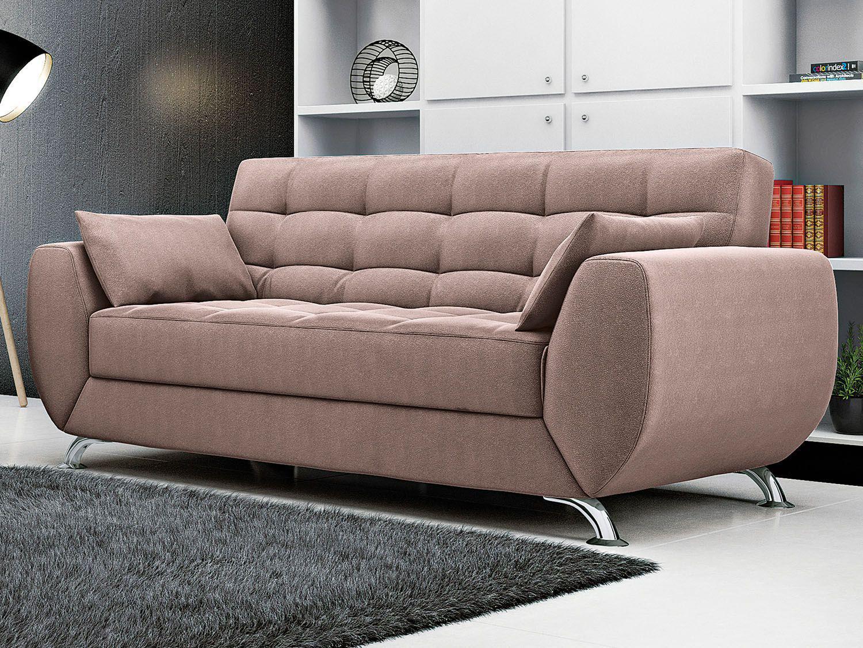 Sof 3 lugares suede elegance larissa linoforte sof s for Sofa 03 lugares com chaise