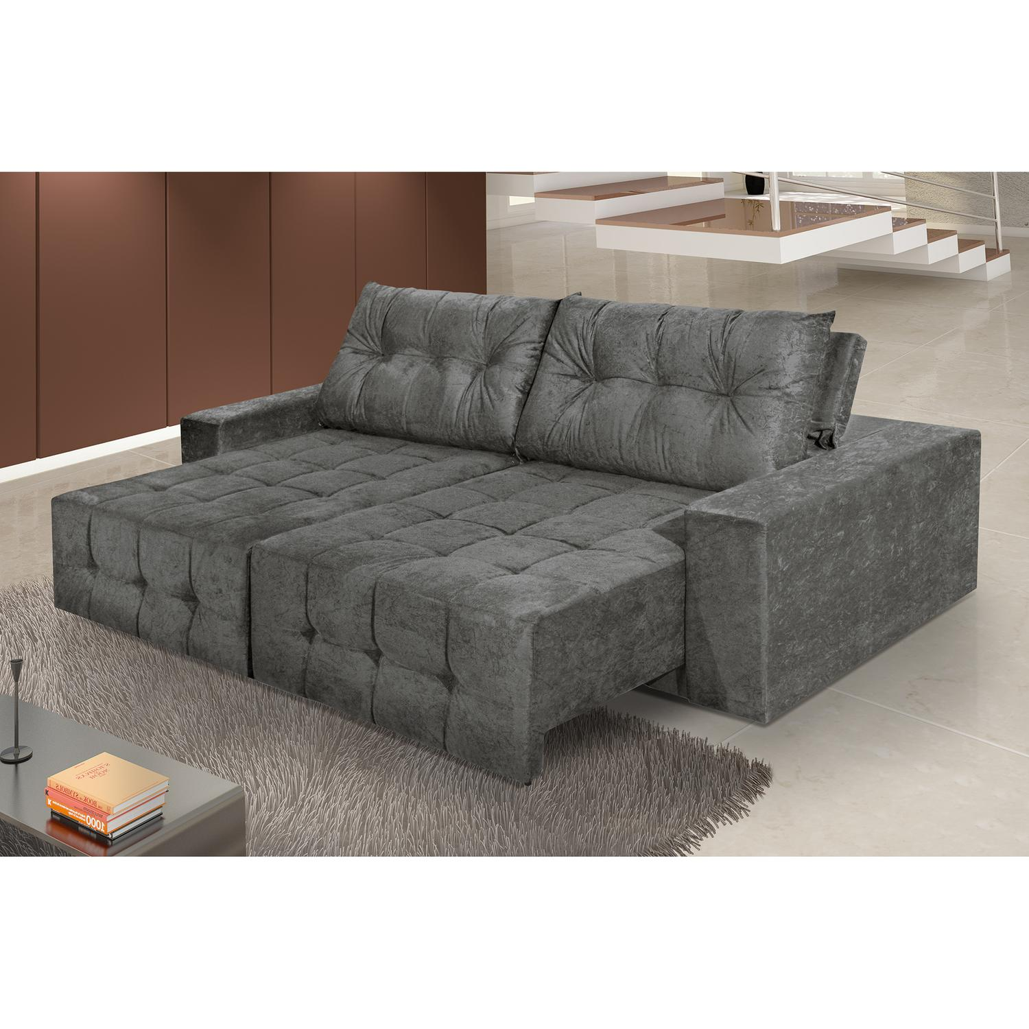 Sofa reclinavel e retratil 4 lugares for Sofa 03 lugares retratil e reclinavel