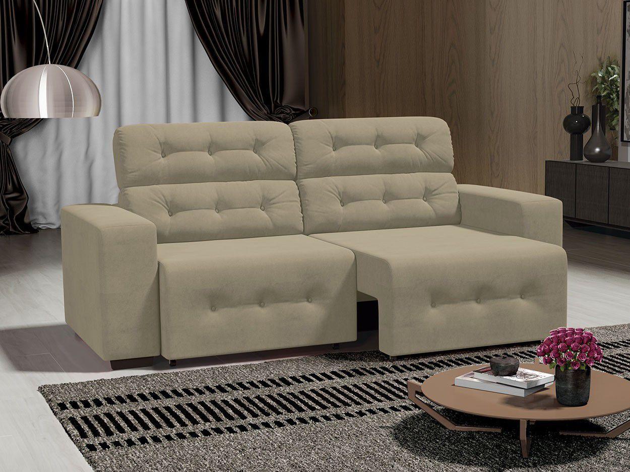 Sof 4 lugares retr til e reclin vel revestimento suede for Sofa 7 lugares retratil e reclinavel firenze