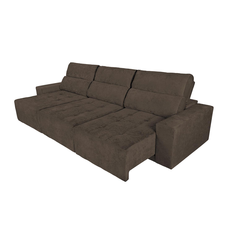 Sof 6 lugares roma retr til e reclin vel suede amassado for Sofa 4 lugares retratil e reclinavel caravaggio suede amassado marrom