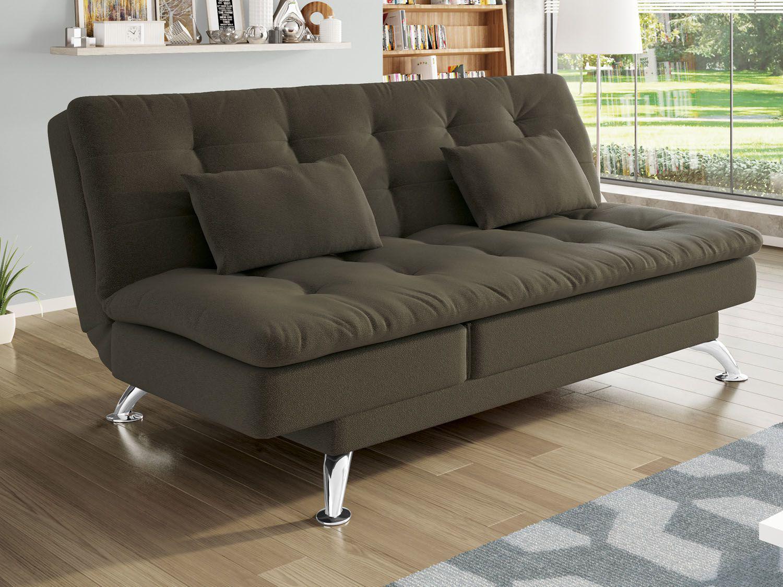 Magazineluiza com sof mil o 4 lugares com chaise puff for Sofa cama 1 persona