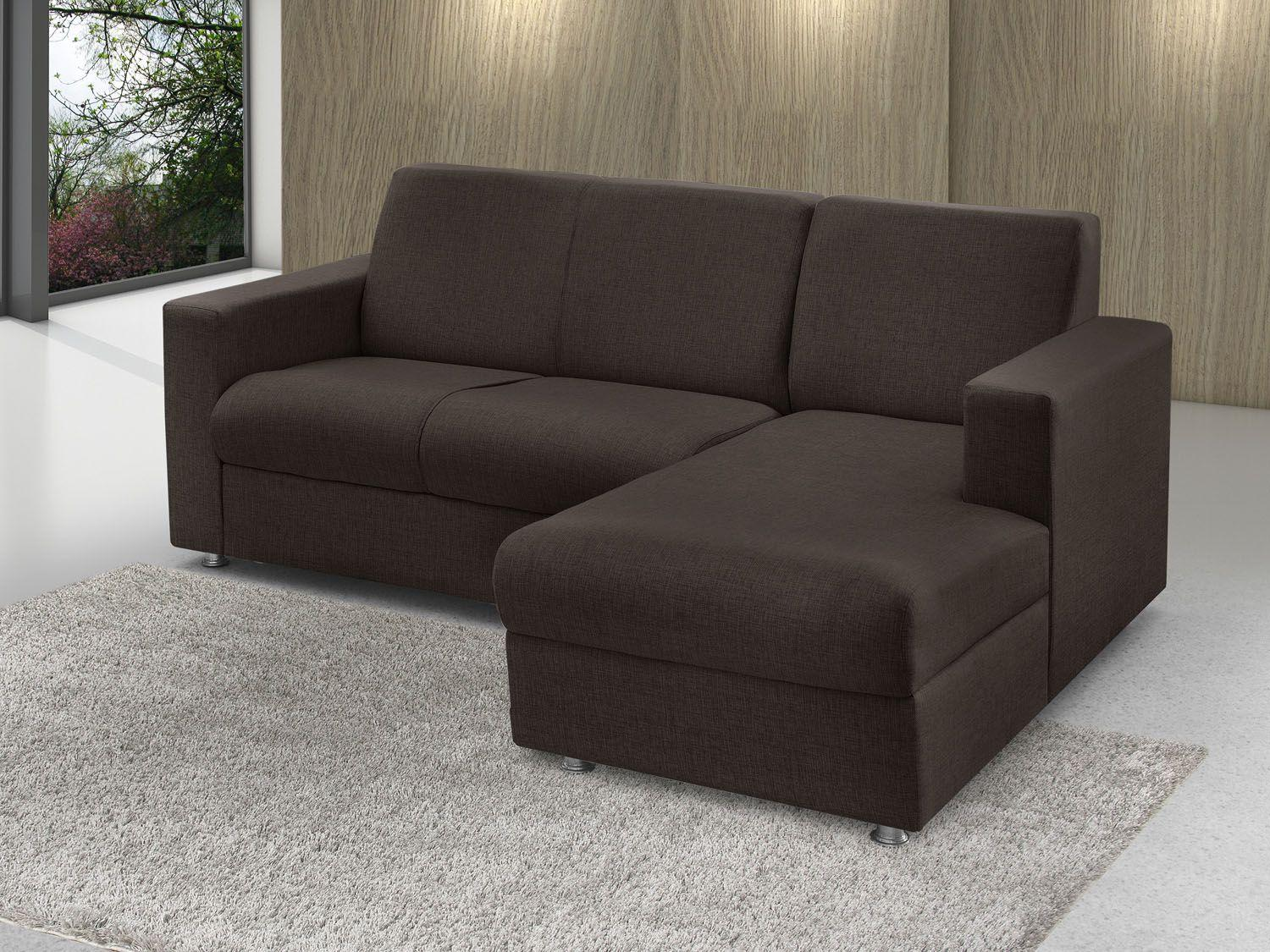 Sofa chaise 2 lugares retratil for Sofa 6 lugares reclinavel e assento retratil roma suede amassado marrom orb