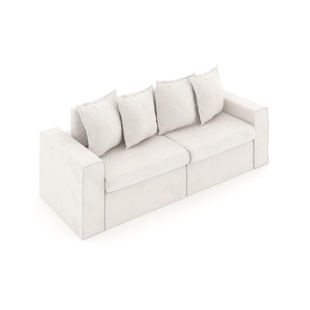Sofá de 2 Lugares Retrátil Iguape Rossini Branco 226cm ...